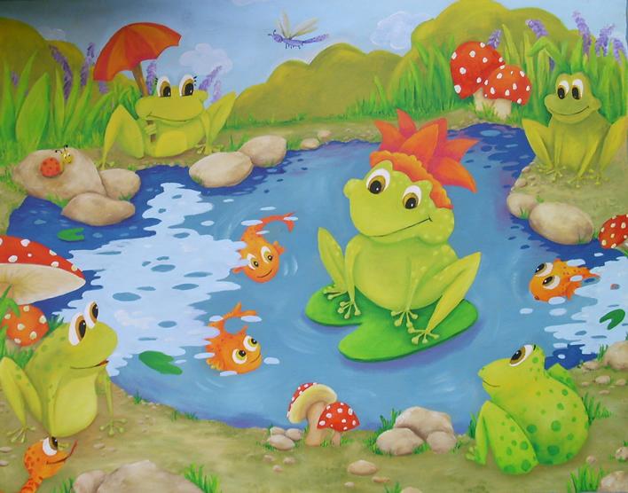 Rocio matosas etchebarne murales infantiles for Murales de tela para pared